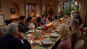 La famiglia Forrester di Beautiful riuniti a tavola per le feste