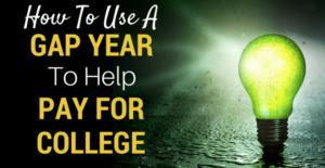 Una lampadina accesa e la frase How to use a gap year